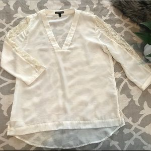 Express Boho Top with Lace Detail